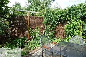 Weidenprofi naturzaune und sichtschutz klassische for Garten planen mit natur sichtschutz balkon