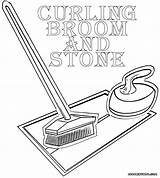 Curling Coloring Pages Coloringway sketch template