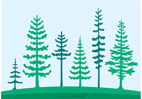 cedar trees silhouette vector   vector art