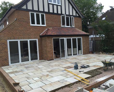 new build patio purley surrey hillside landscape services