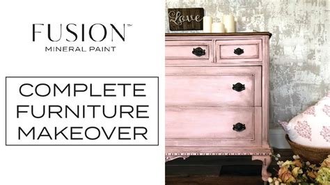 fusion mineral paint furniture makeover english rose
