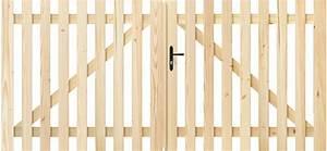 Portail En Bois : portail bois lupin coulissant battant ajour barreaudage ~ Premium-room.com Idées de Décoration