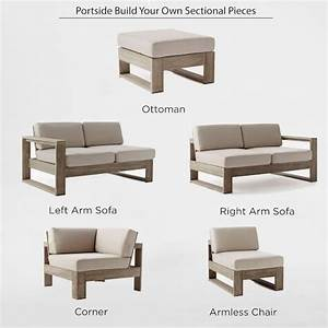 Build your own portside sectional west elm for How to build a sectional couch