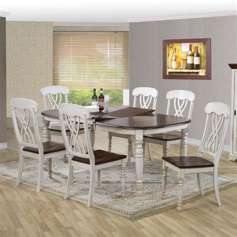 cottage kitchen table sets baxton studio newman chic country cottage 7 5909