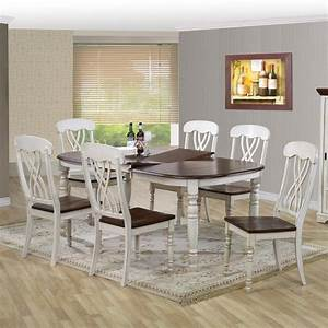 Baxton, Studio, Newman, Chic, Country, Cottage, 7, Piece, Extendable, Oval, Dining, Table, Set