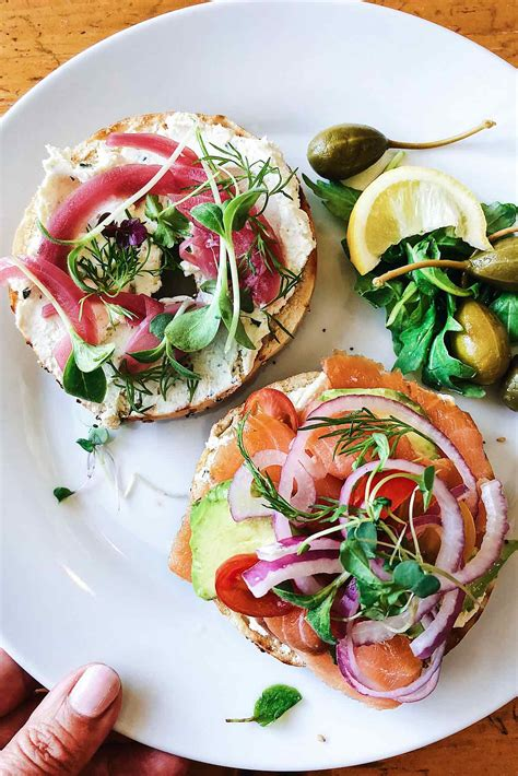 how to serve a diy bagels and lox brunch bar foodiecrush