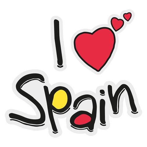 vinilo decorativo souvenir espana  love spain