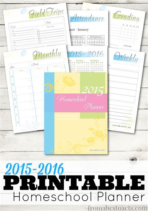 homeschool planner   school year
