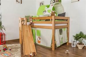 Kinderbett 200 X 90 : kinderbett hochbett samuel buche vollholz massiv mit rutsche natur inkl rollrost 90 x 200 cm ~ Yasmunasinghe.com Haus und Dekorationen