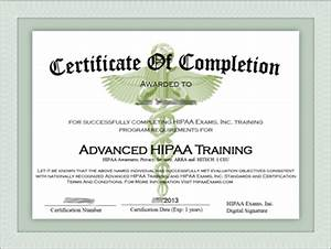 hipaa certificate template 28 images my hipaa search With hipaa training certificate template