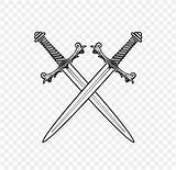 Drawing Sword Weapon Coloring Weapons Favpng sketch template