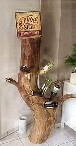 Deko Aus Baumstämmen : weinflaschenst nder aus massiven baumst mmen weinregale baumst mme und dawanda ~ Frokenaadalensverden.com Haus und Dekorationen