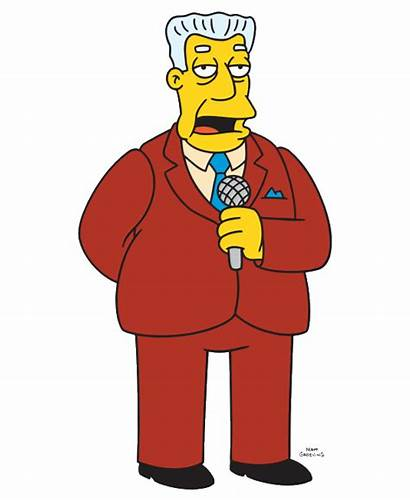 Simpsons Kent Brockman Anchor Reporter Clipart Television