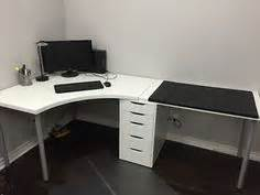 home office corner desk setup ikea linnmon adils