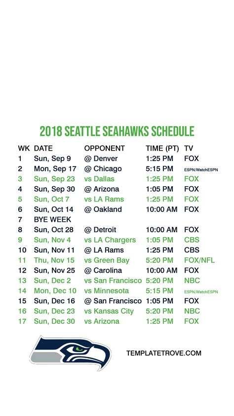 seattle seahawks lock screen schedule  iphone