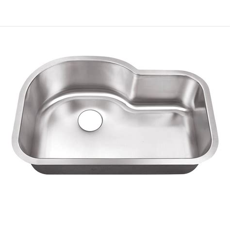 single bowl undermount sink belle foret undermount stainless steel 32 in 0 hole