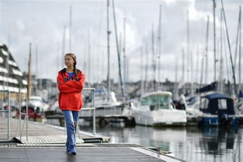 Greta Thunberg sets sail from Plymouth on two-week eco ...