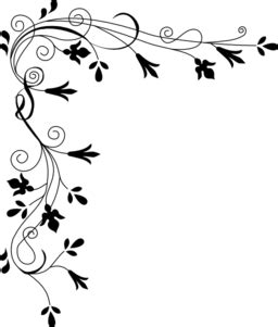 stylized flowers border clipart iclipart royalty
