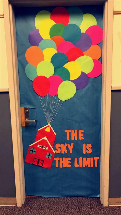 sky   limit classroom door decoration  balloons
