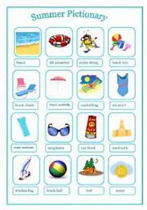 English worksheets: Summer Pictionary