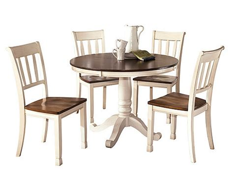 cottage kitchen table leland 5 pc dining set cottage white brown raymour 2660