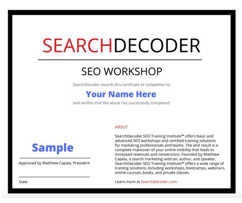 Seo Certification by Seo Certification Searchdecoder Certified Solutions