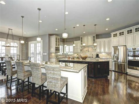 Spacious Kitchen With Two Islands #kitchens