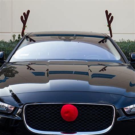 car reindeer antlers nose window roof top front