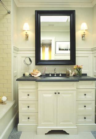 Ivory Bathroom Vanity by Washstand Transitional Bathroom Mcgill Design