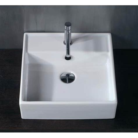18 inch bathroom sink ceramica white 18 inch vessel sink ws bath collections