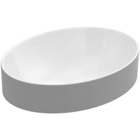 kohler vox oval vitreous china vessel sink in white with