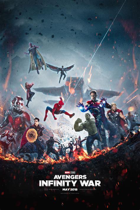 avengers infinity war fan  poster unites  heroes