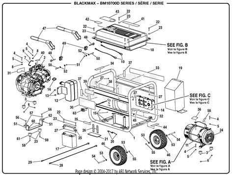 Wiring Diagram For Back by Homelite Bm10700d Generator Parts Diagram For General Assembly