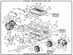 Homelite Bm10700d Generator Parts Diagram For General Assembly