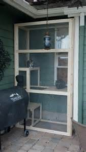 DIY Outdoor Cat Enclosure Window