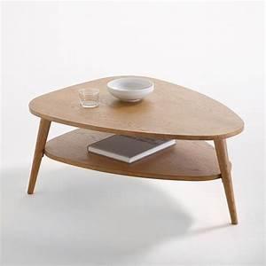 Table Basse Retro : table basse vintage double plateau quilda ch ne la redoute interieurs la redoute ~ Teatrodelosmanantiales.com Idées de Décoration