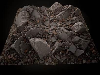 Debris Piles Gameready Poly Low Models Floor