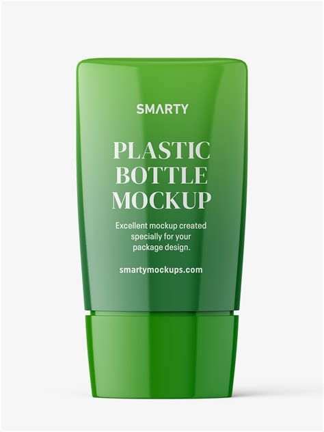 Free for personal and commercial use note: Glossy bottle mockup - Smarty Mockups