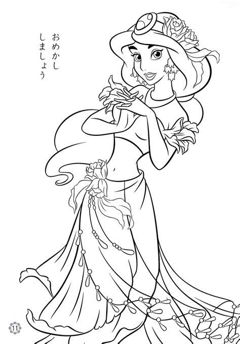 princess jasmine printable coloring pages  girls