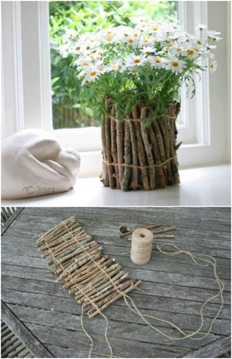 inexpensive diy decor projects   twigs  sticks