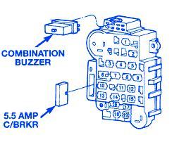 1996 Jeep Fuse Block Diagram by Jeep Ckerokee Country 1996 Fuse Box Block Circuit Breaker