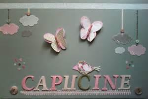 tableau pour chambre bebe fille tableau personnalis 233 chambre b 233 b 233 fille capucine d 233 coration pour enfants par au fil et sur