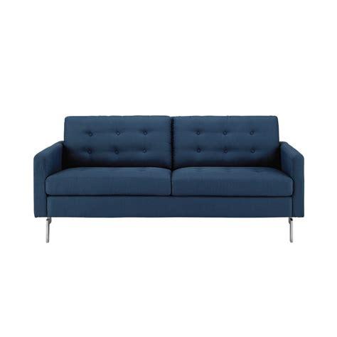 canapé tissu bleu canapé 2 3 places en tissu bleu nuit victor maisons du monde