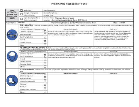 ppe hazard assessment form