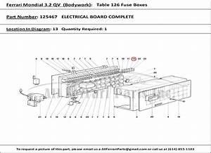 Ferrari Part Number 125467 Electrical Board Complete
