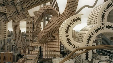 osakas skyline transformed   surreal architectural