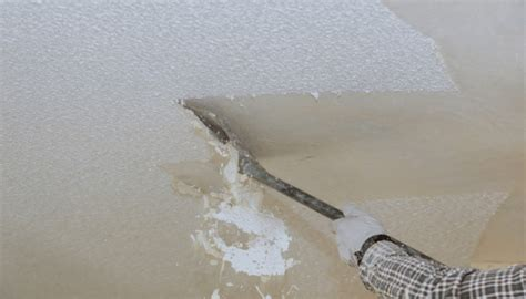 removing  popcorn ceilings increase home