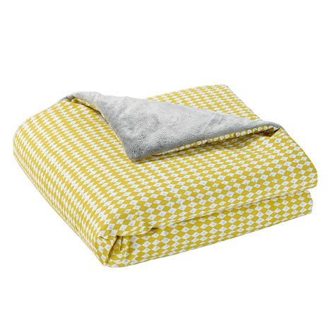 plaid coton canapé plaid coton