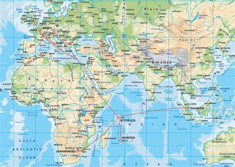 Carte Du Monde Avec Les Seychelles seychelles carte du monde voyages cartes