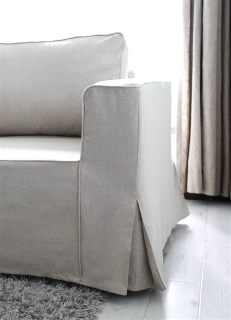 sofa armrest covers ikea loose fit linen manstad sofa slipcovers now available